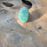 Amazonite Ring in Silver