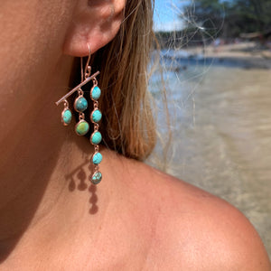 Silver - Turquoise Earrings