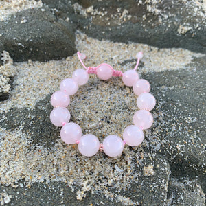 Rose Quartz Adjustable Beaded Bracelet 10mm