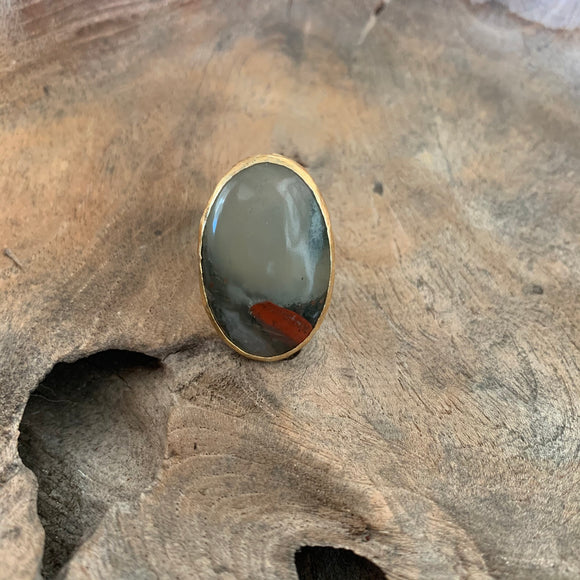 Bloodstone Ring in Gold
