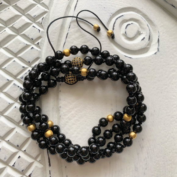 Black Onyx Adjustable Mala