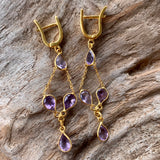 Silver - Amethyst Earrings