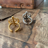 Adi Shakti Symbol Adjustable Ring