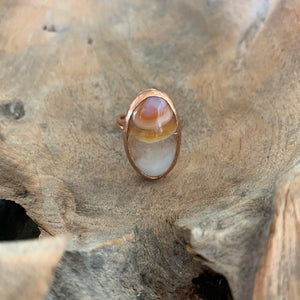 Oval Carnelian Ring in Rose Gold