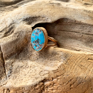 Persian Turquoise Ring in Rose Gold