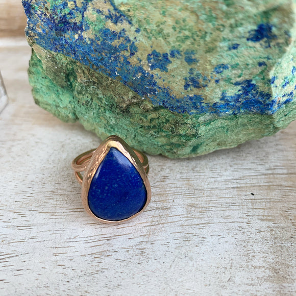 Lapis Lazuli Ring in Rose Gold