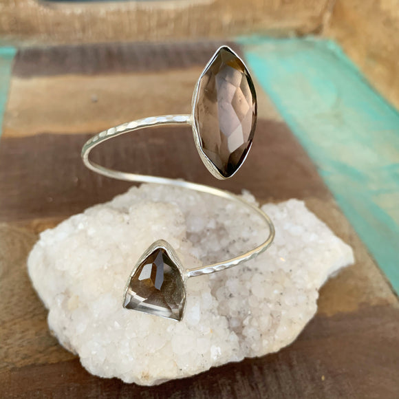 Smokey Quartz Bangle Bracelet
