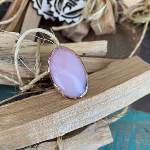 Pink Opal Ring in Rose Gold
