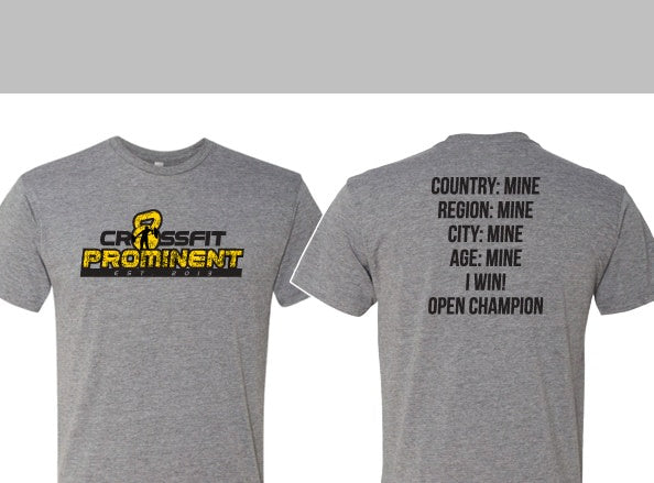 Men's Crossfit Open Shirts