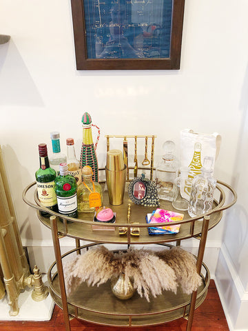 The Little Apple's Bar Cart