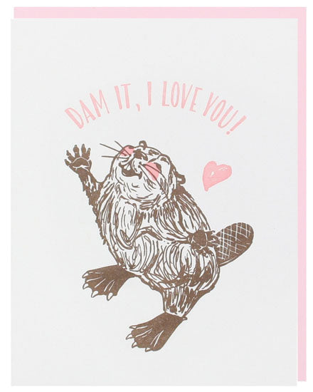 Beaver Love Valentine's Greeting Card