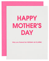 Happy Mother's Day Mistaken Sister Greeting Card