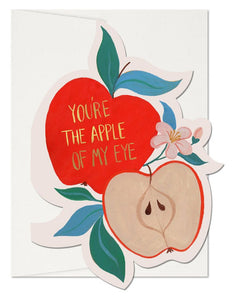 Apple of My Eye Valentine's Greeting Card