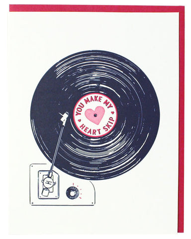 Record Love Valentine's Greeting Card