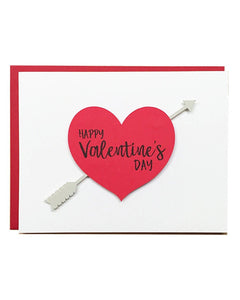 Happy Valentine's Day Arrow Greeting Card