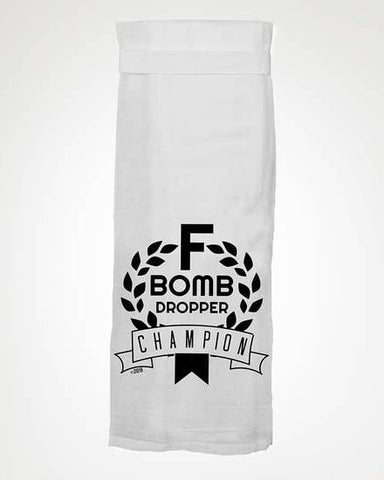 F Bomb Dropper Champion Tea Towel