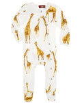 Milkbarn Organic Cotton Giraffe Footed Romper