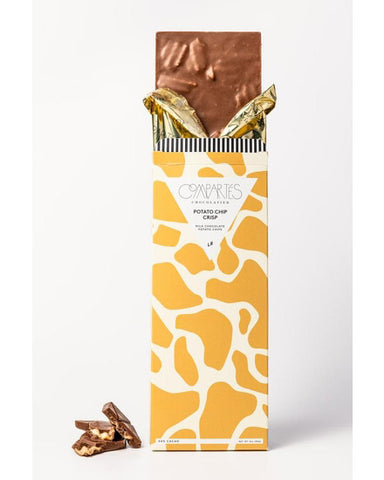 Compartes Potato Chip Crisp Milk Chocolate Bar