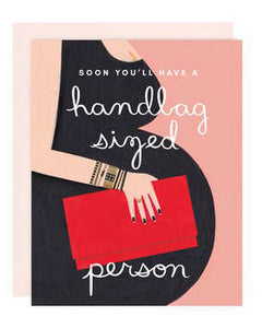 Handbag Sized Person Baby Greeting Card