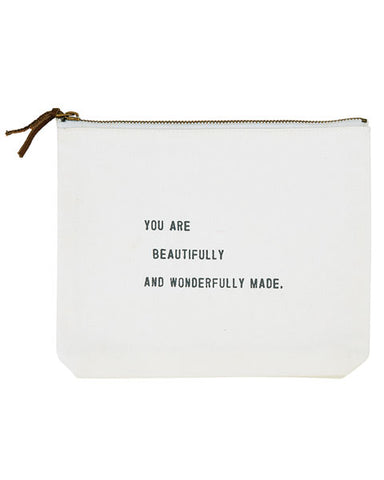 You Are Beautifully Made Zip Pouch