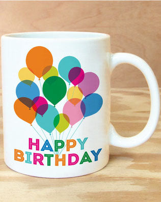 Happy Birthday Balloon Mug