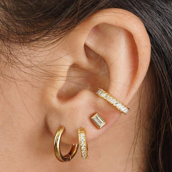 Erin Huggie Gold Earrings