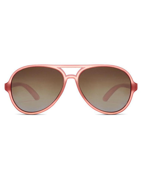 Hipsterkid Rosé Polarized Aviator Sunglasses