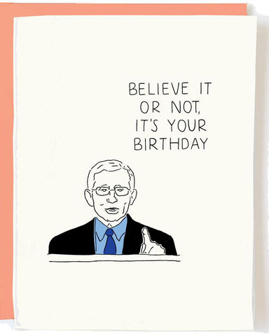 Dr. Fauci Birthday Greeting Card