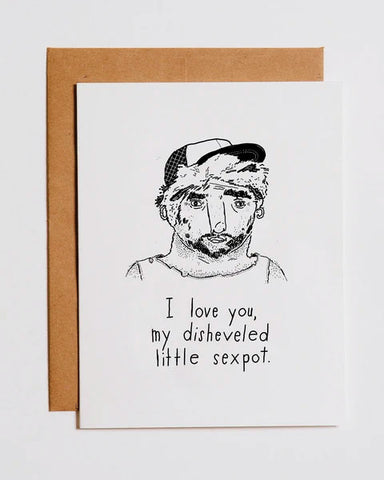 Disheveled Sexpot Valentine's Day Greeting Card