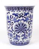 Blue Chinoiserie Ginger Jar Porcelain Planter
