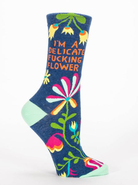 I'm A Delicate Fucking Flower Women's Crew Socks
