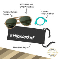 Hipsterkid Sand Polarized Aviator Sunglasses (0-2 Years)