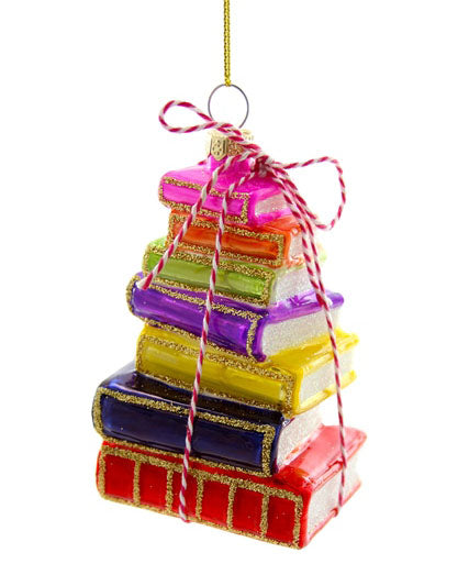 Stacked Book Ornament