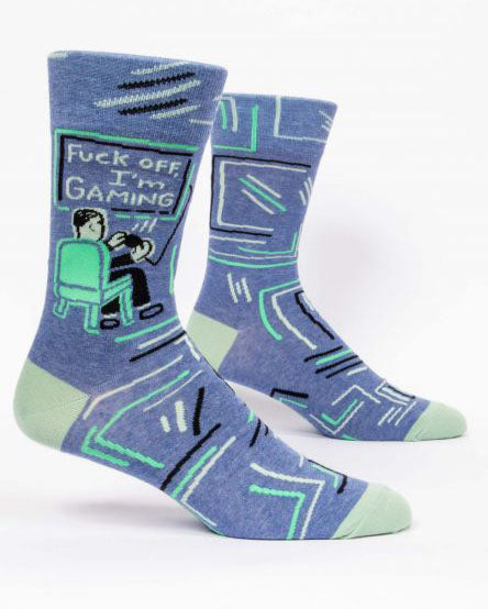 Fuck Off I'm Gaming Men's Crew Socks