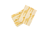 Giraffe Printed Organic Burp Cloths