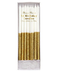 Meri Meri Gold Glitter Dipped Candles
