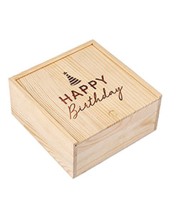Happy Birthday Wood Gift Box