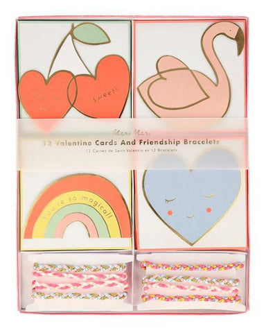 Valentine Friendship Bracelet Card Set