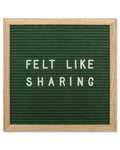 Hunter Green Felt Letter Board