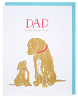 Puppy's Love Father's Day Greeting Card