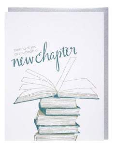 New Chapter Congratulations Graduation Greeting Card