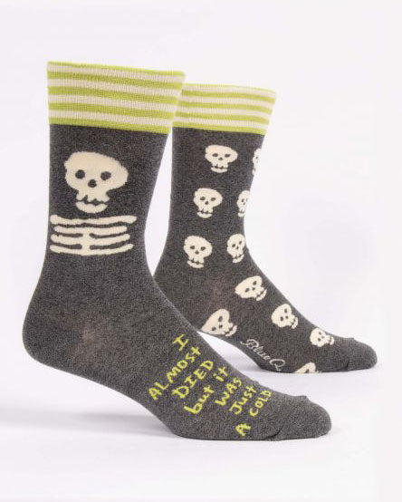 I Almost Died Men's Crew Socks