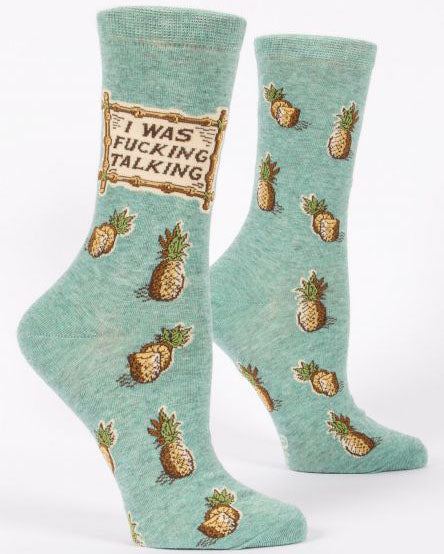 I Was F'ing Talking Women's Crew Socks