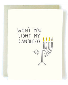 Won't You Light My Candles Christmas Greeting Card