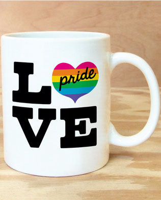 Love Pride Rainbow Mug