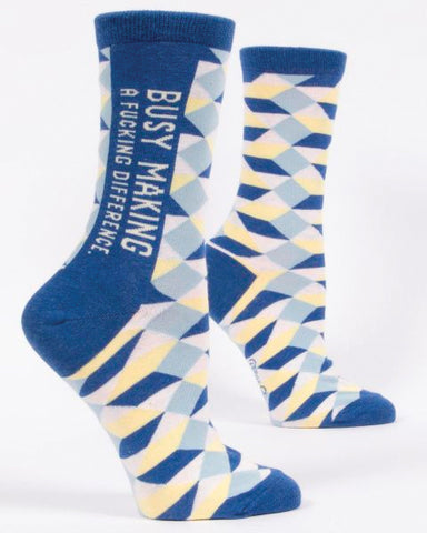 Busy Making a Difference Men's Crew Socks
