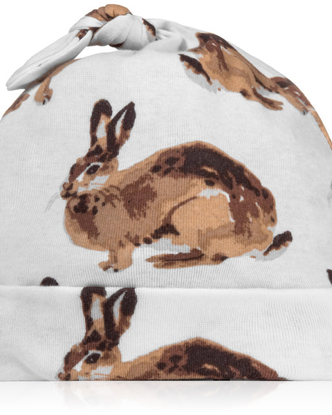 Milkbarn Organic Cotton Knotted Hat Bunny