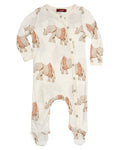 Milkbarn Bamboo Elephant in Tutu Footed Romper