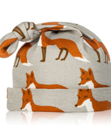 Milkbarn Organic Cotton Knotted Hat Fox