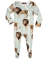 Milkbarn Bamboo Lion Footed Romper